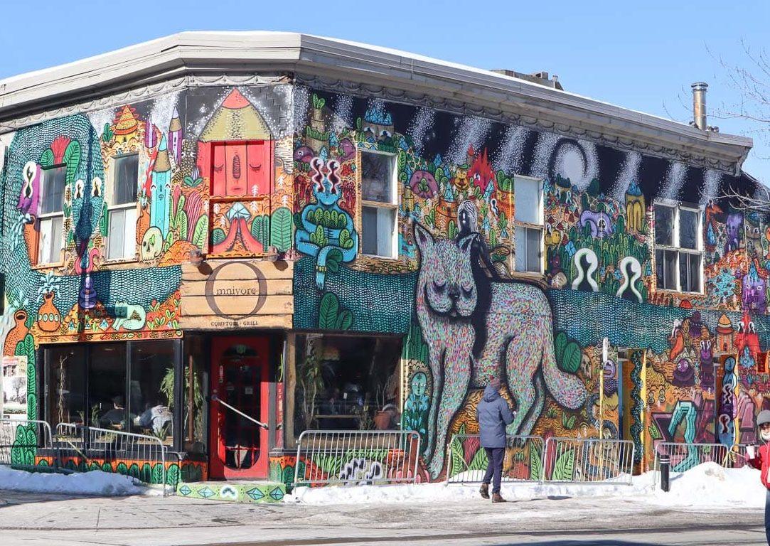 Street art sur le boulevard Saint-Laurent, Montréal