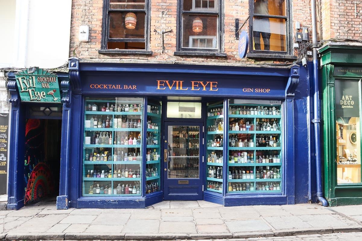 Evil Eye, gin shop and bar, York