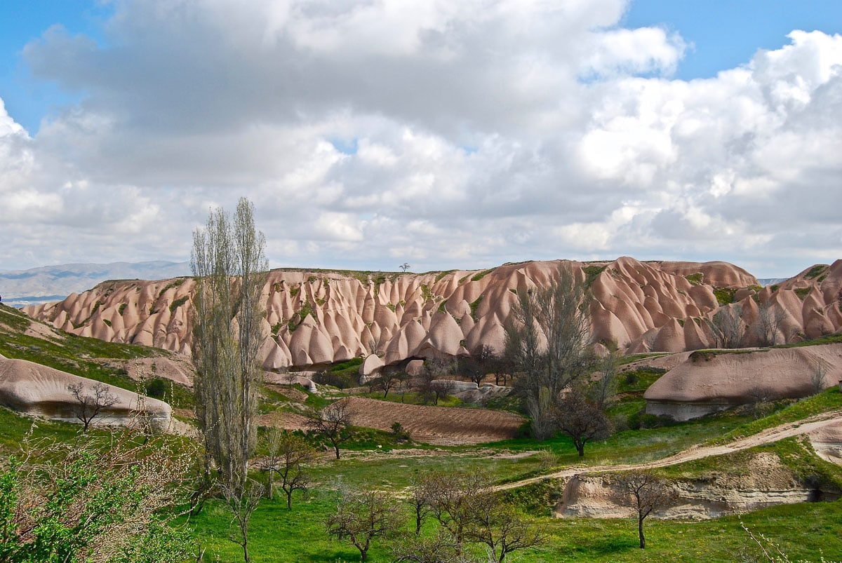 Stunning rock formations in Cappadocia