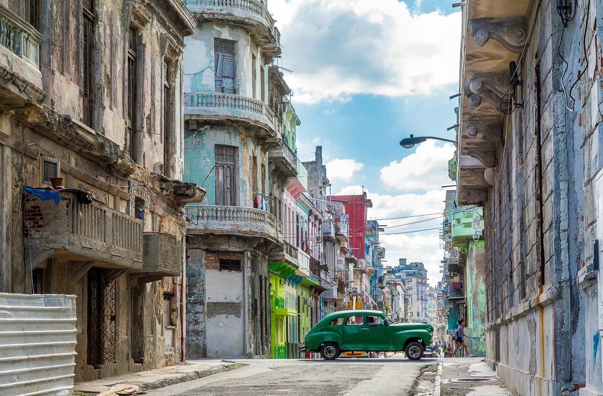 Colourful streets in Havana, Cuba