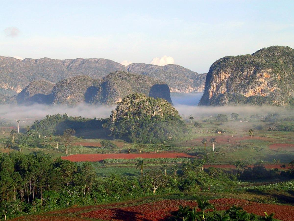 Morning mist near Vinales, Cuba