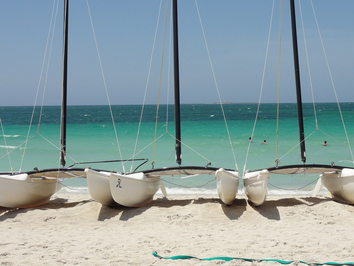 White sandy beaches in Varadero, Cuba