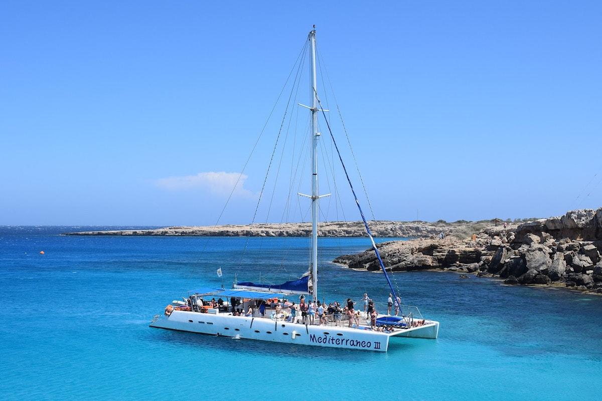 Catamaran tour around Ibiza