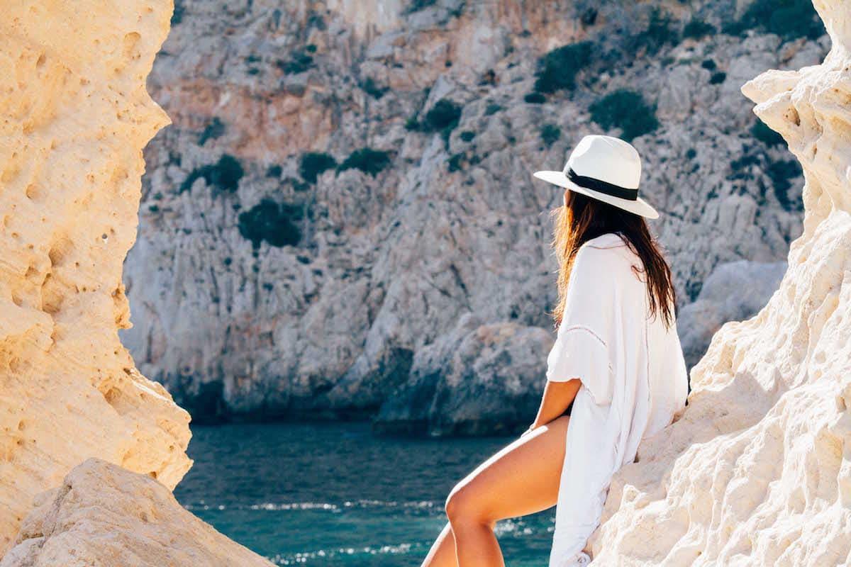 Enjoying the beauty of Ibiza