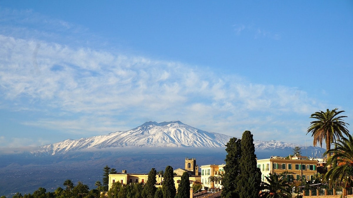 Views of Etna from Taormina, Sicily