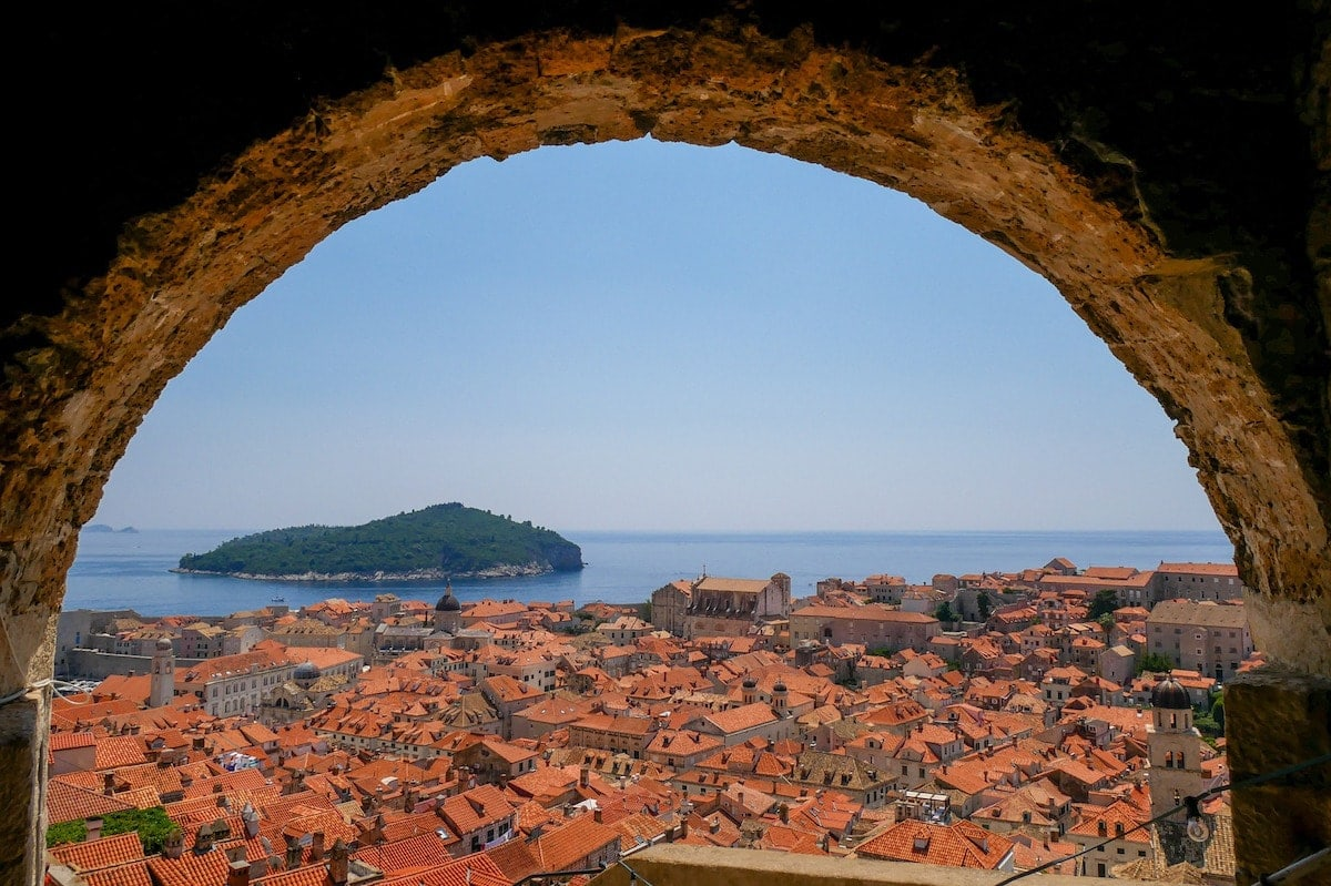 View of Lokrum from Dubrovnik
