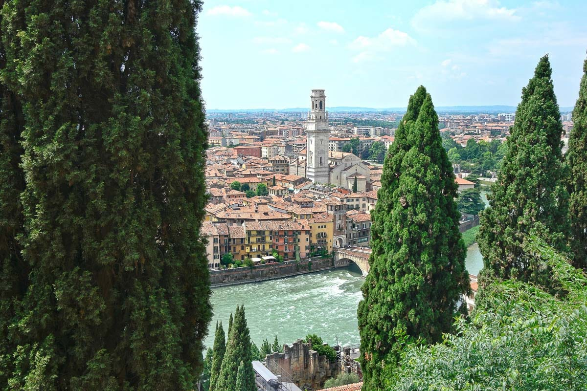 Looking out over Verona