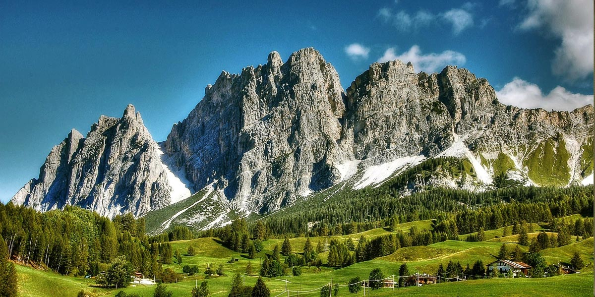 Cortina d'Ampezzo in The Dolomites, Italy