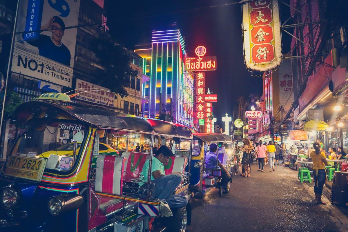Chinatown at night, Bangkok