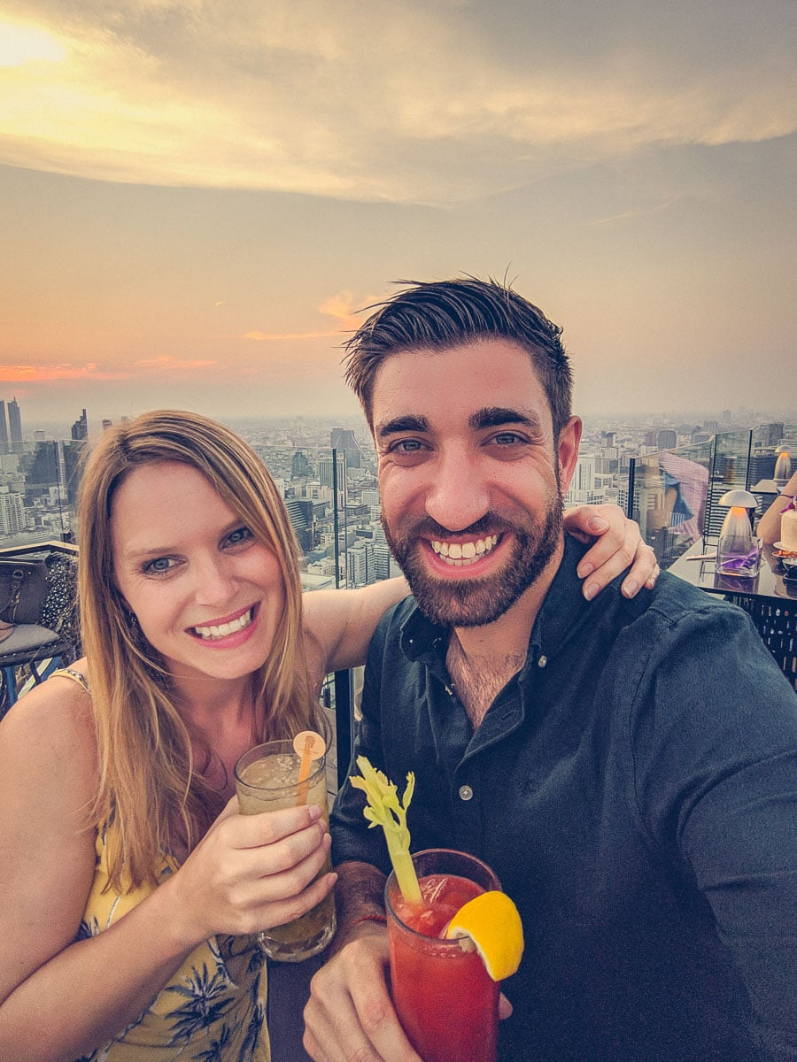 Sunset cocktails at Moon Bar, Bangkok