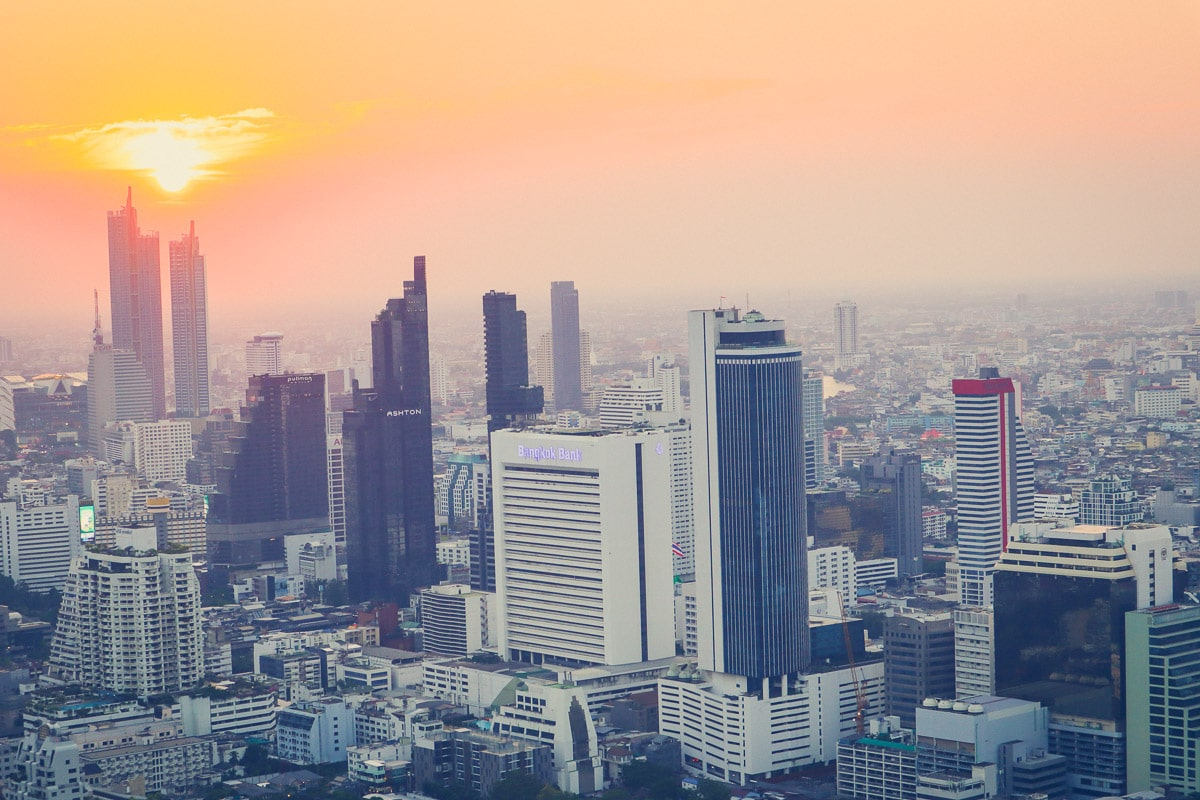 Sunset at Moon Bar, Bangkok