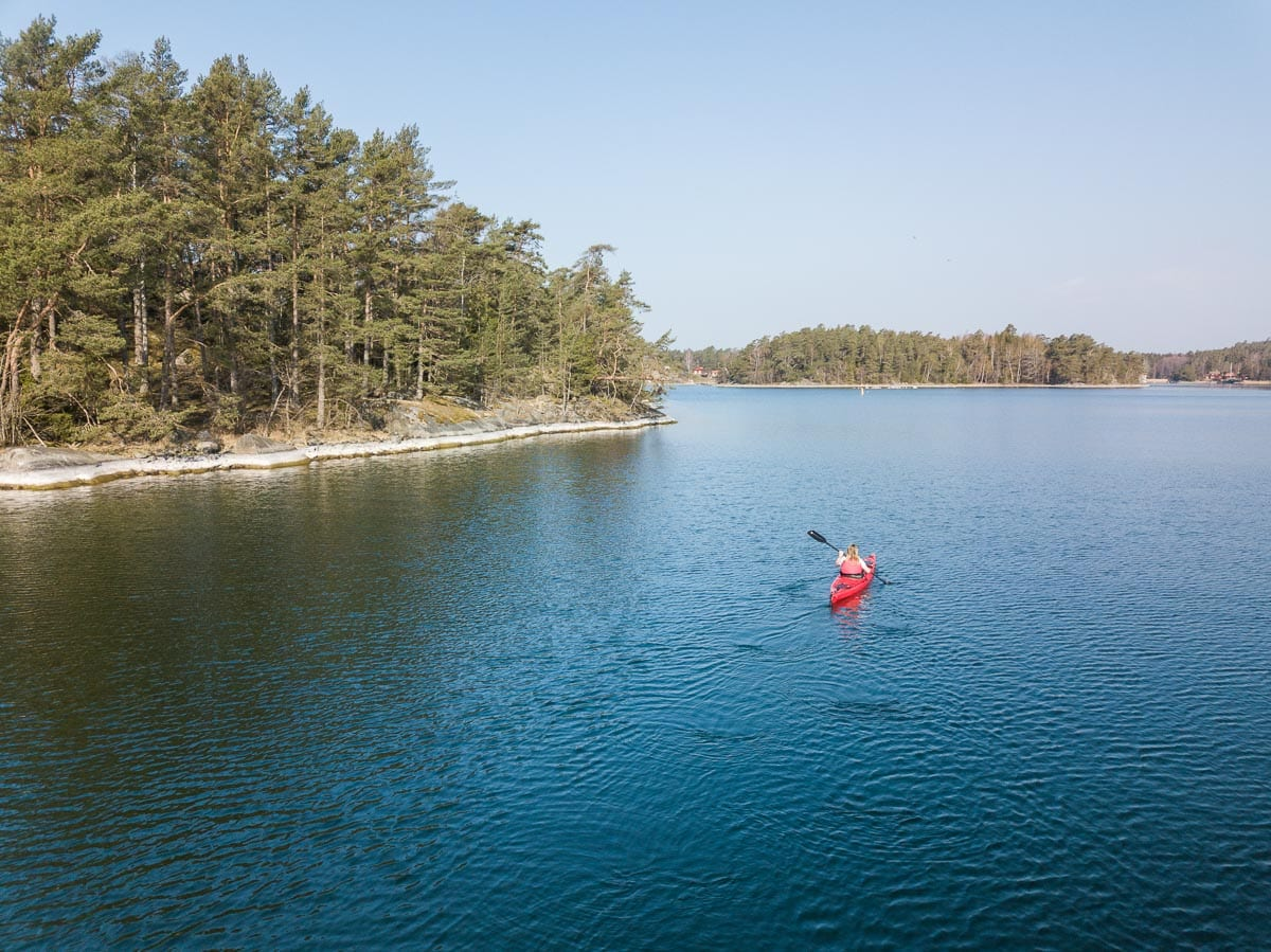 Kayaking in Sörmland's archipelago