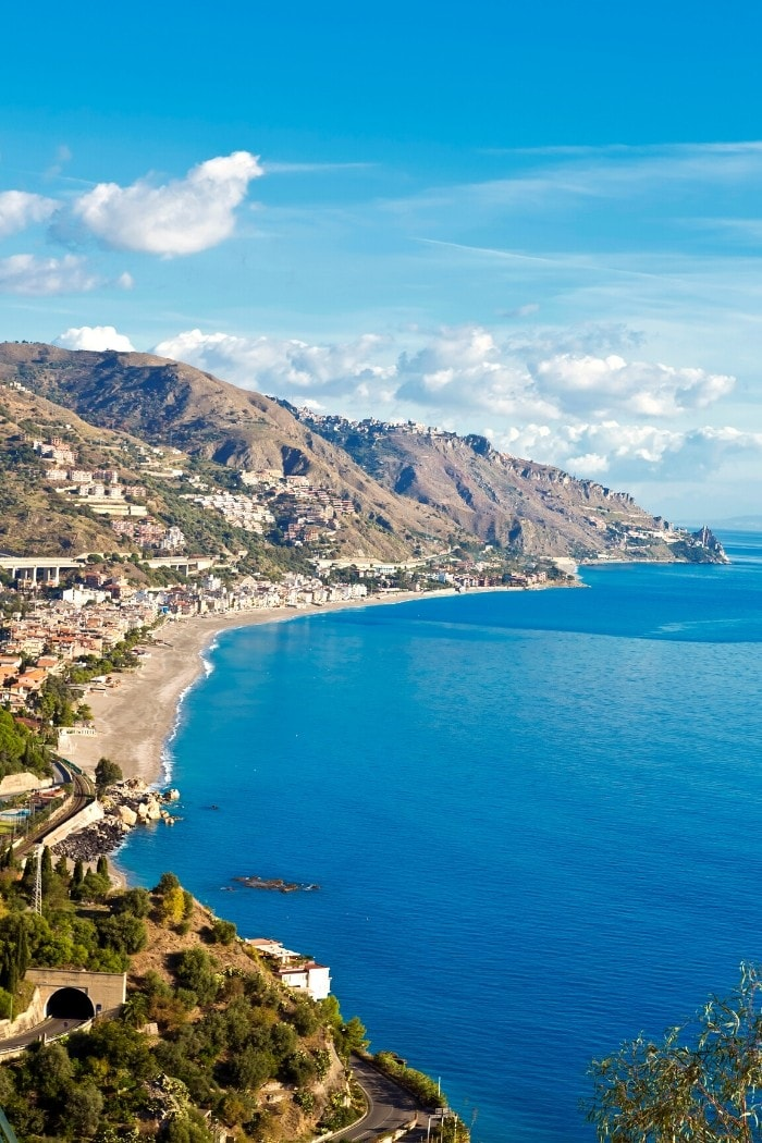 Taormina coastline - a perfect place to finish your southern Italy road trip itinerary