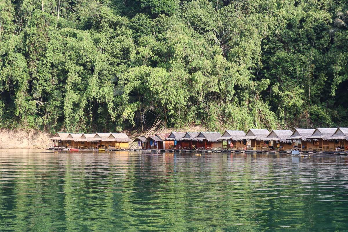 Our floating bungalows in Khao Sok National Park, Thailand