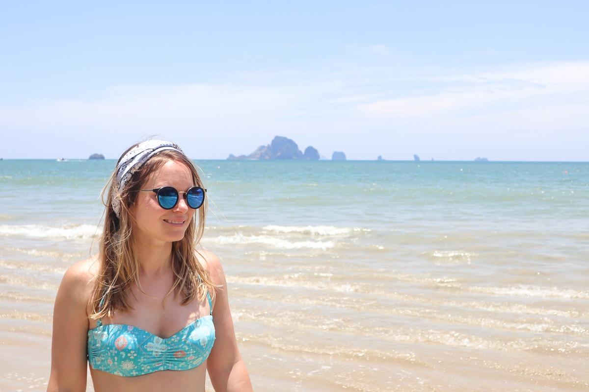 On the beach in Ao Nang, Thailand