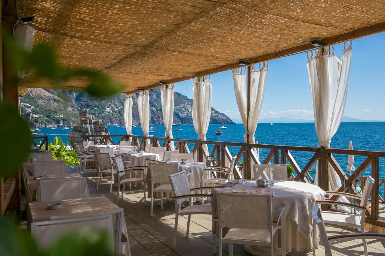 Terrace view at Hotel Le Agavi, Positano