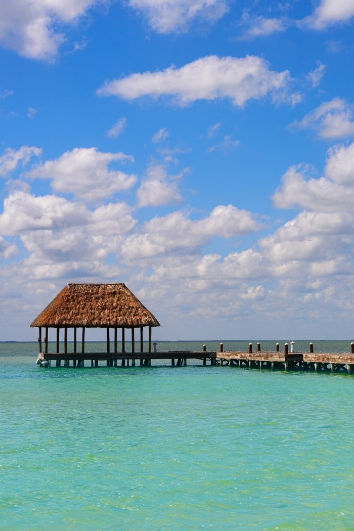 Pier on Holbox island in Mexico