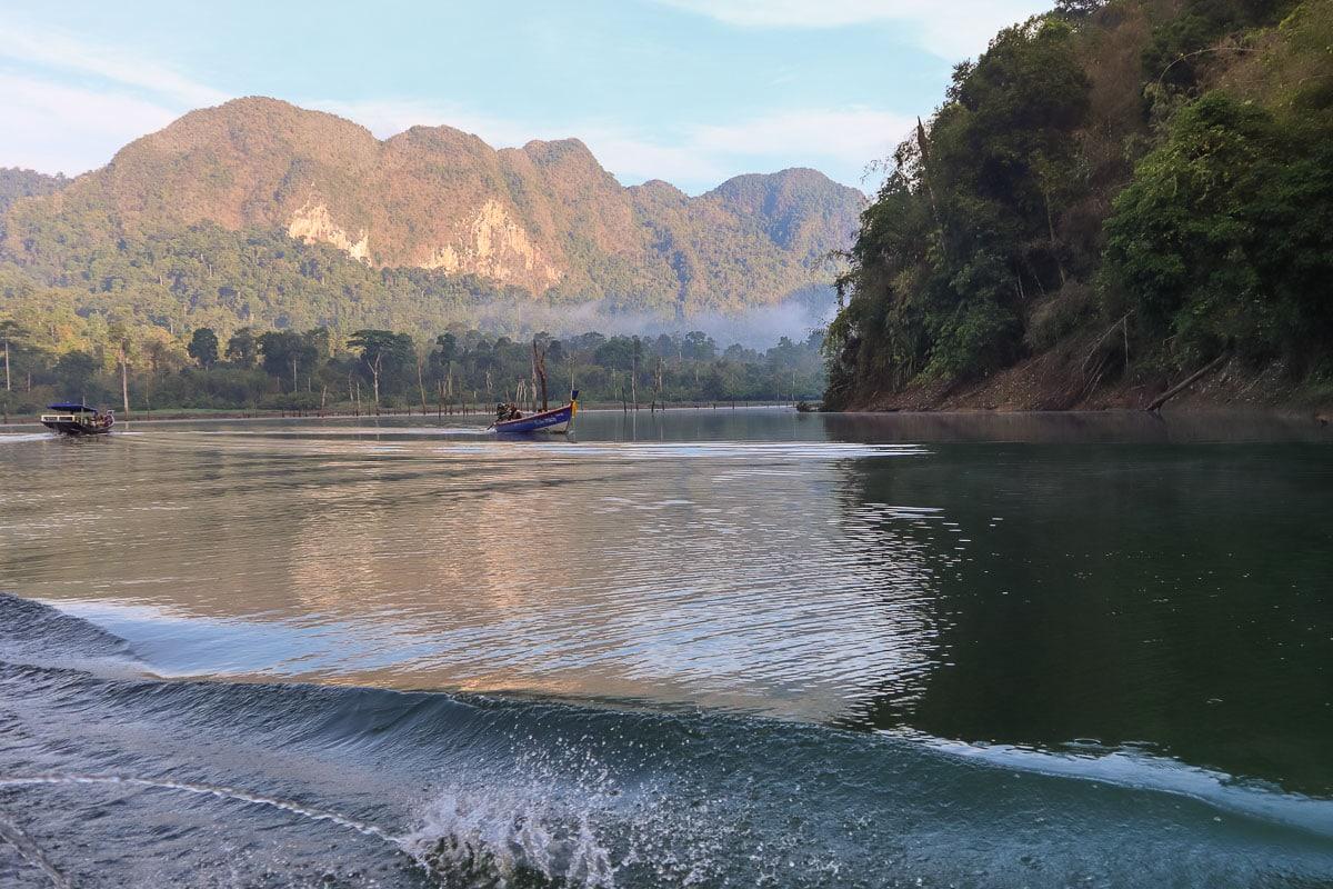 Sunrise views in Khao Sok National Park
