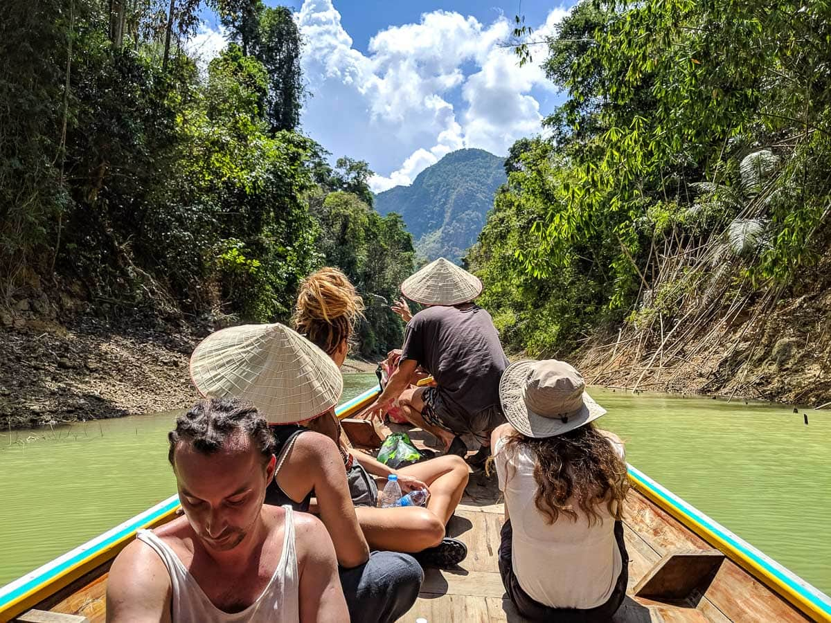 Boat trip in Khao Sok National Park, Thailand
