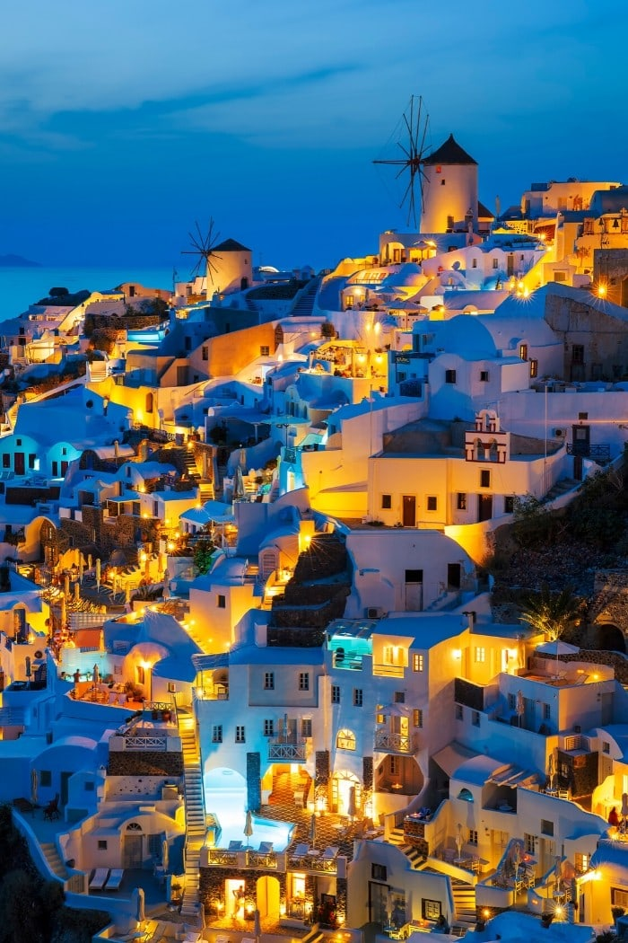 Things to do in Santorini at night - take in the views