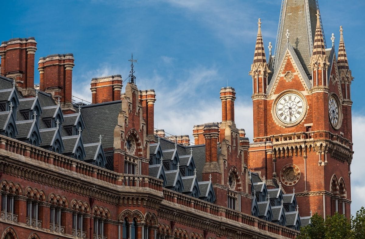 Beautiful building at St Pancras, London