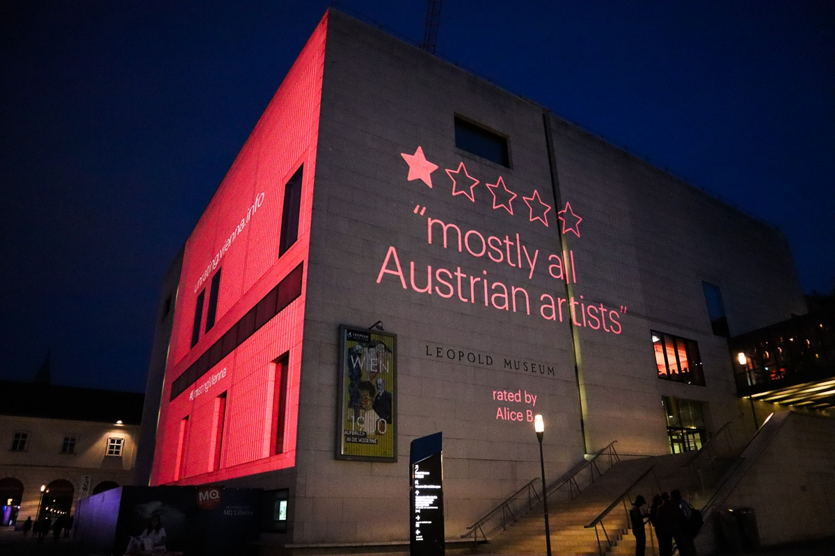 UnratingVienna campaign on the Leopold Museum