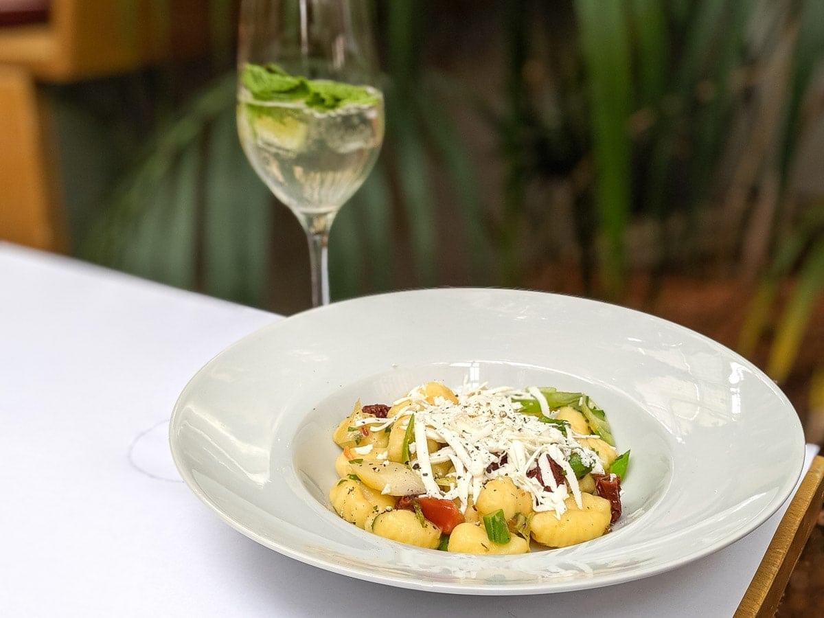 Gnocchi for lunch at Palmenhaus, Vienna