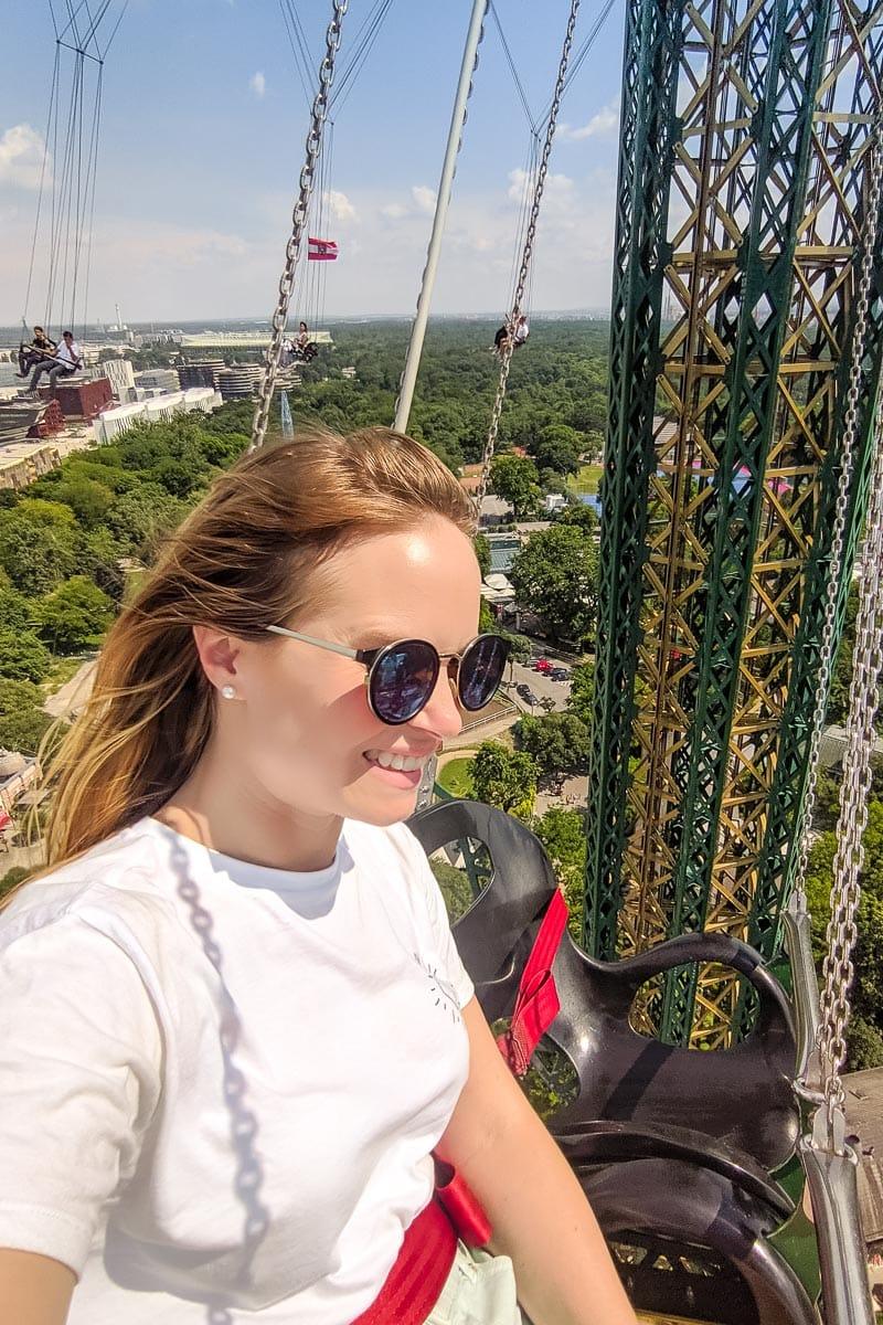 Swinging on the Praterturm, Vienna