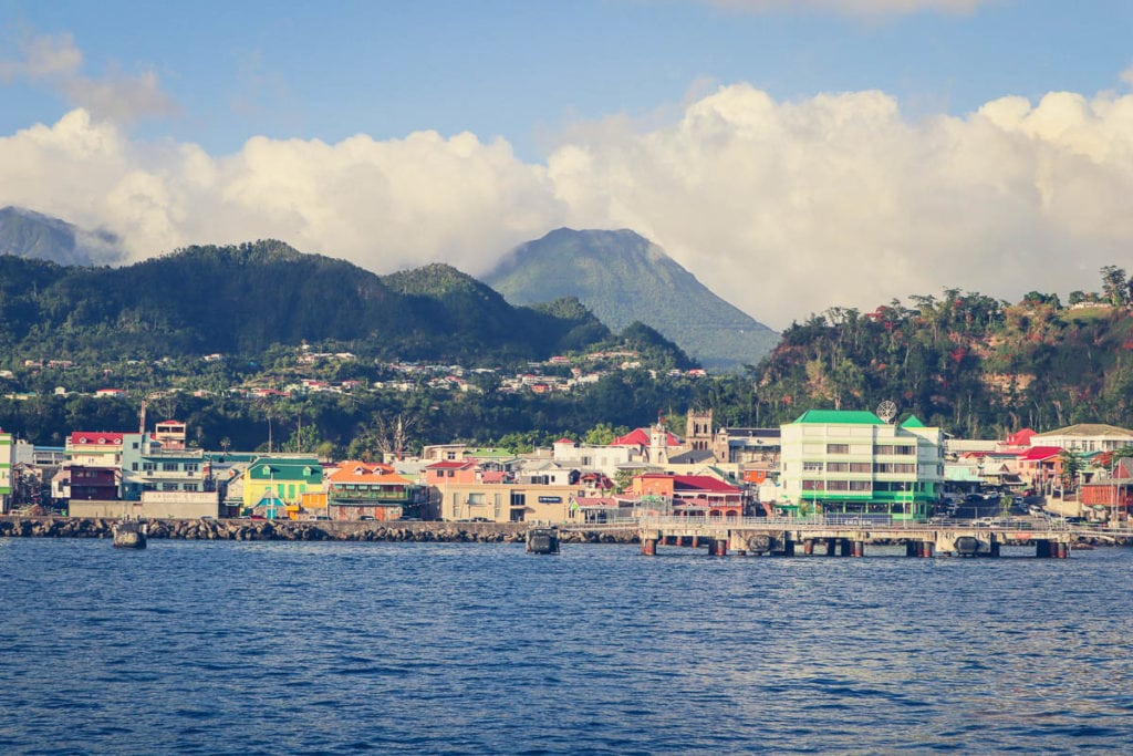 View approaching Roseau, Dominica, Caribbean