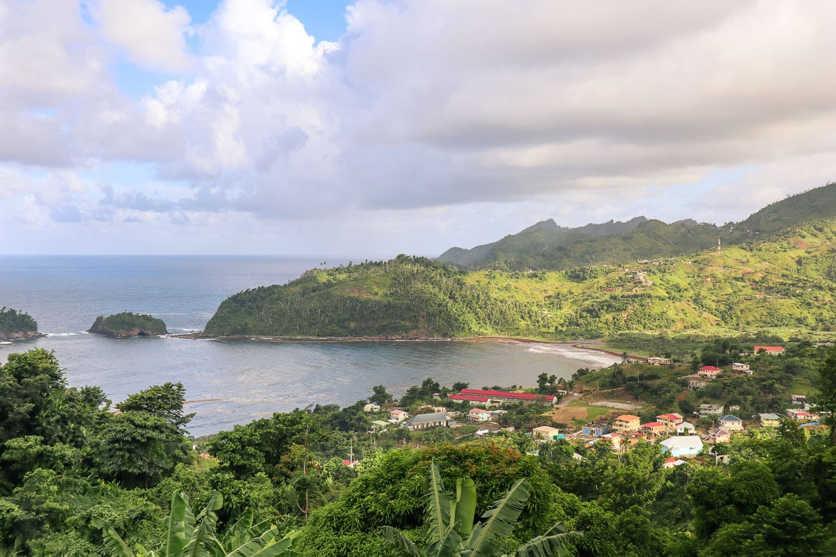 View over Castle Bruce from Islet View, Dominica
