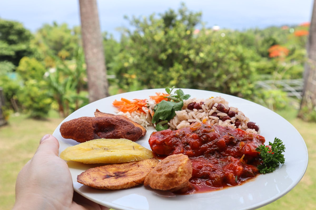 Our meal at our Dominica cooking class