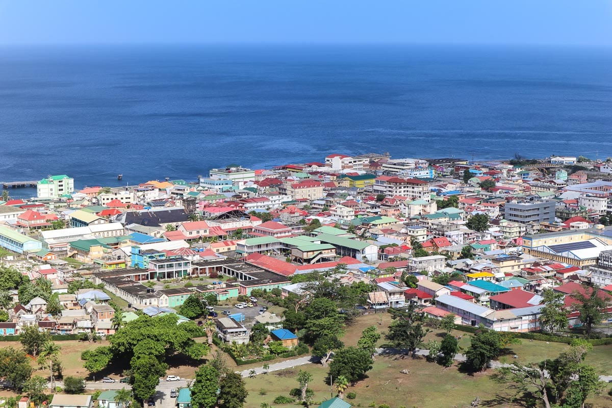 View over Roseau, Dominica