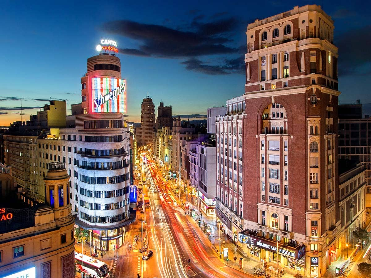 Buzzing city of Madrid