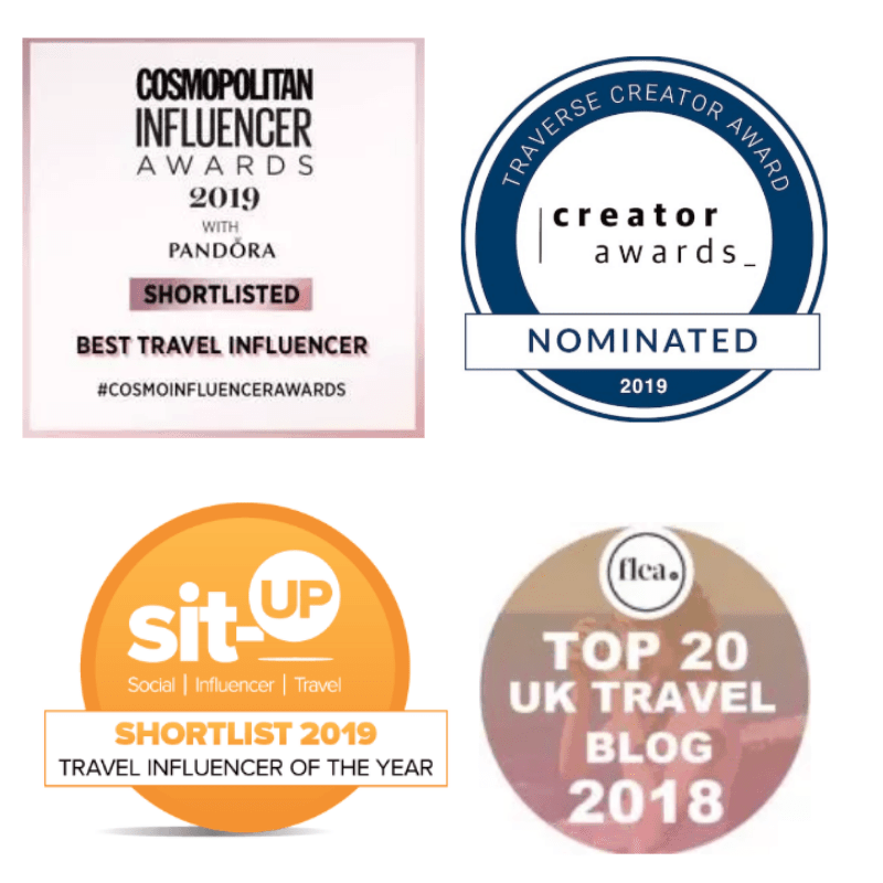 Wanderlust Chloe - Travel Blogger Awards