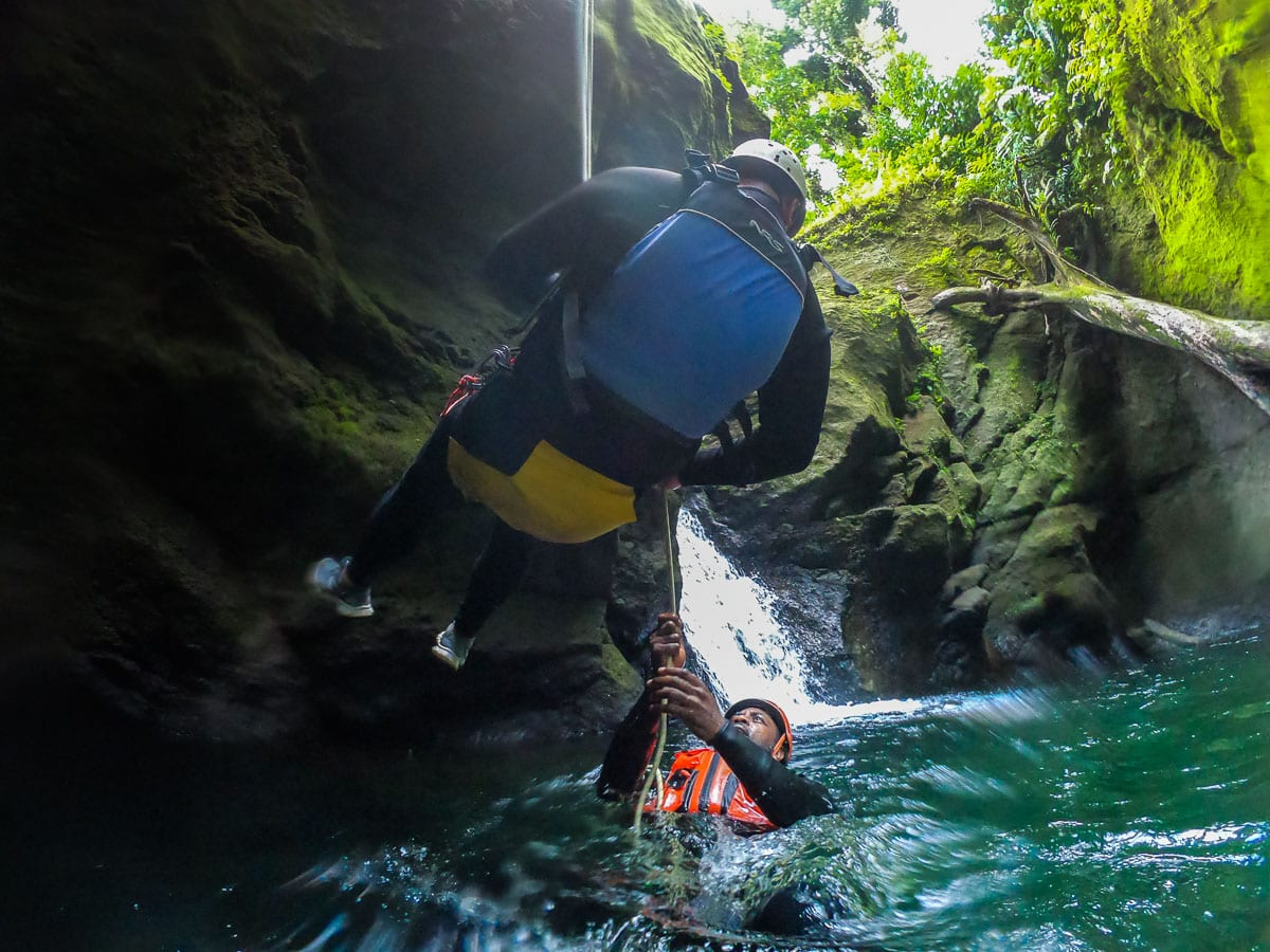 Canyoning in Dominica (credit: Macca Sherifi)