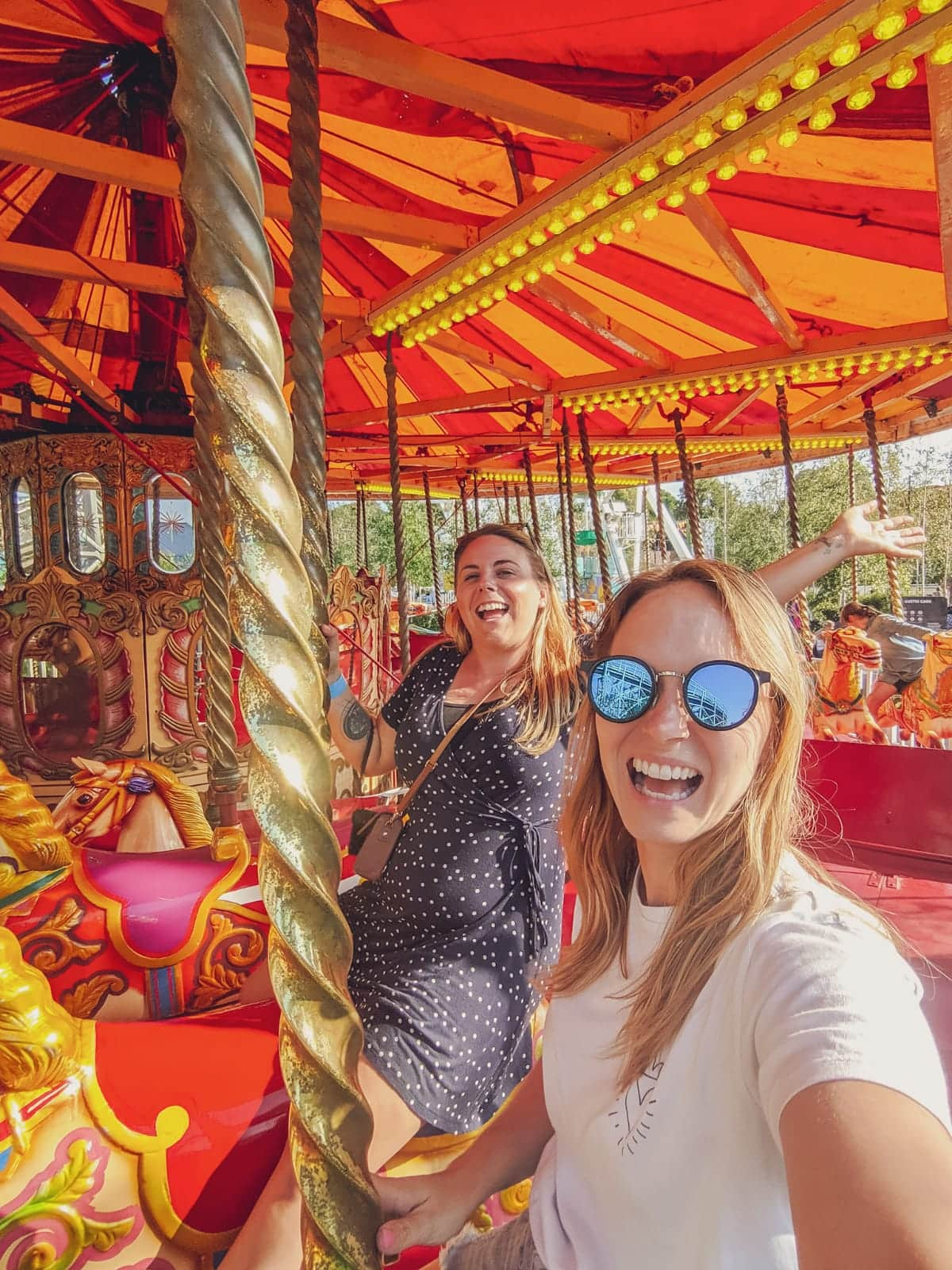 Riding Gallopers carousel at Dreamland Margate