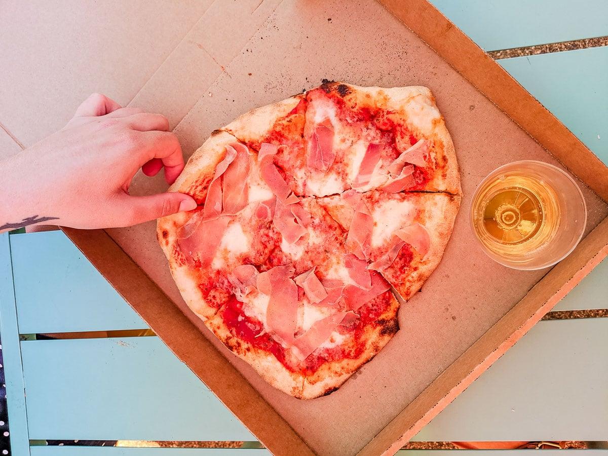 Sourdough pizza at Dreamland Margate