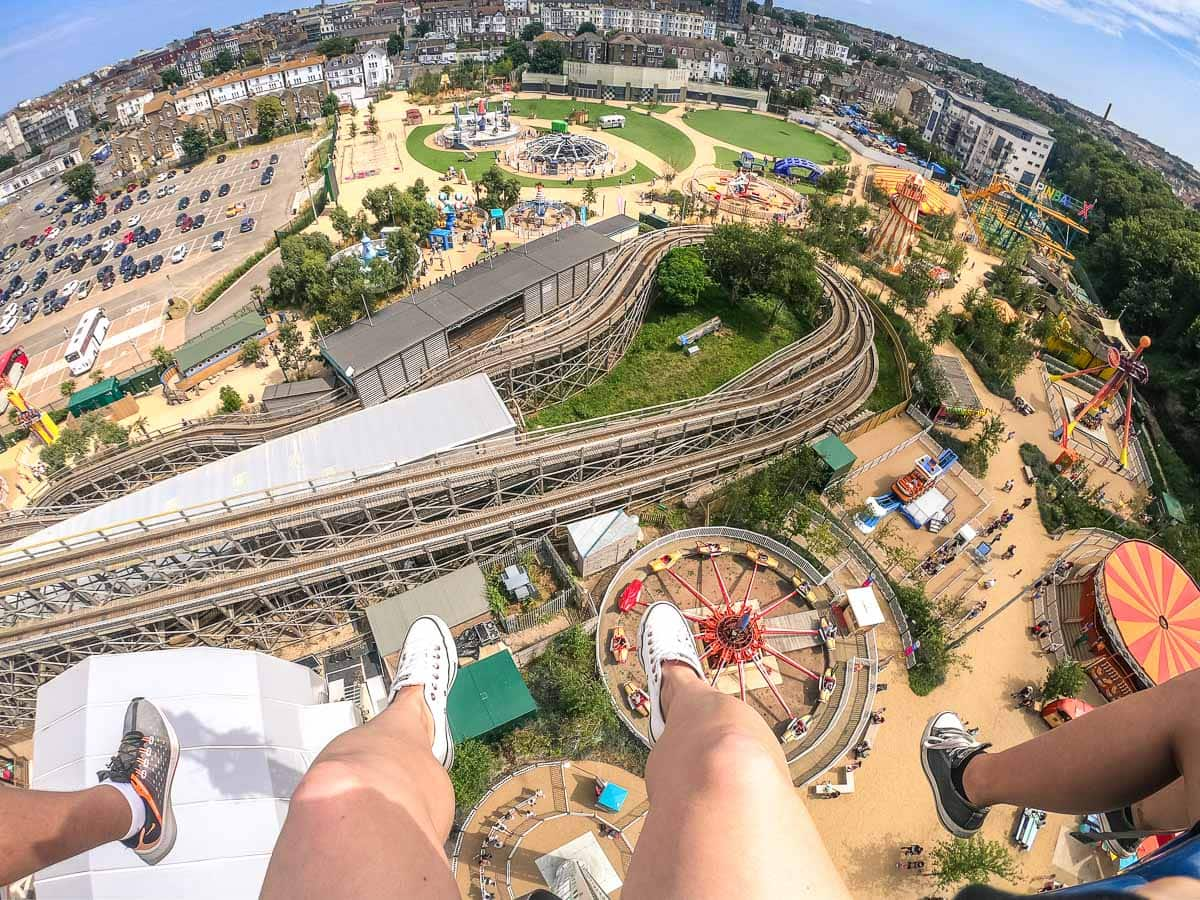 Looking down from the Dreamland Drop