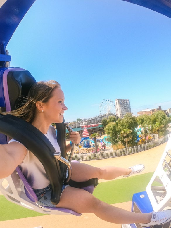 Riding the Dreamcatcher at Dreamland Margate
