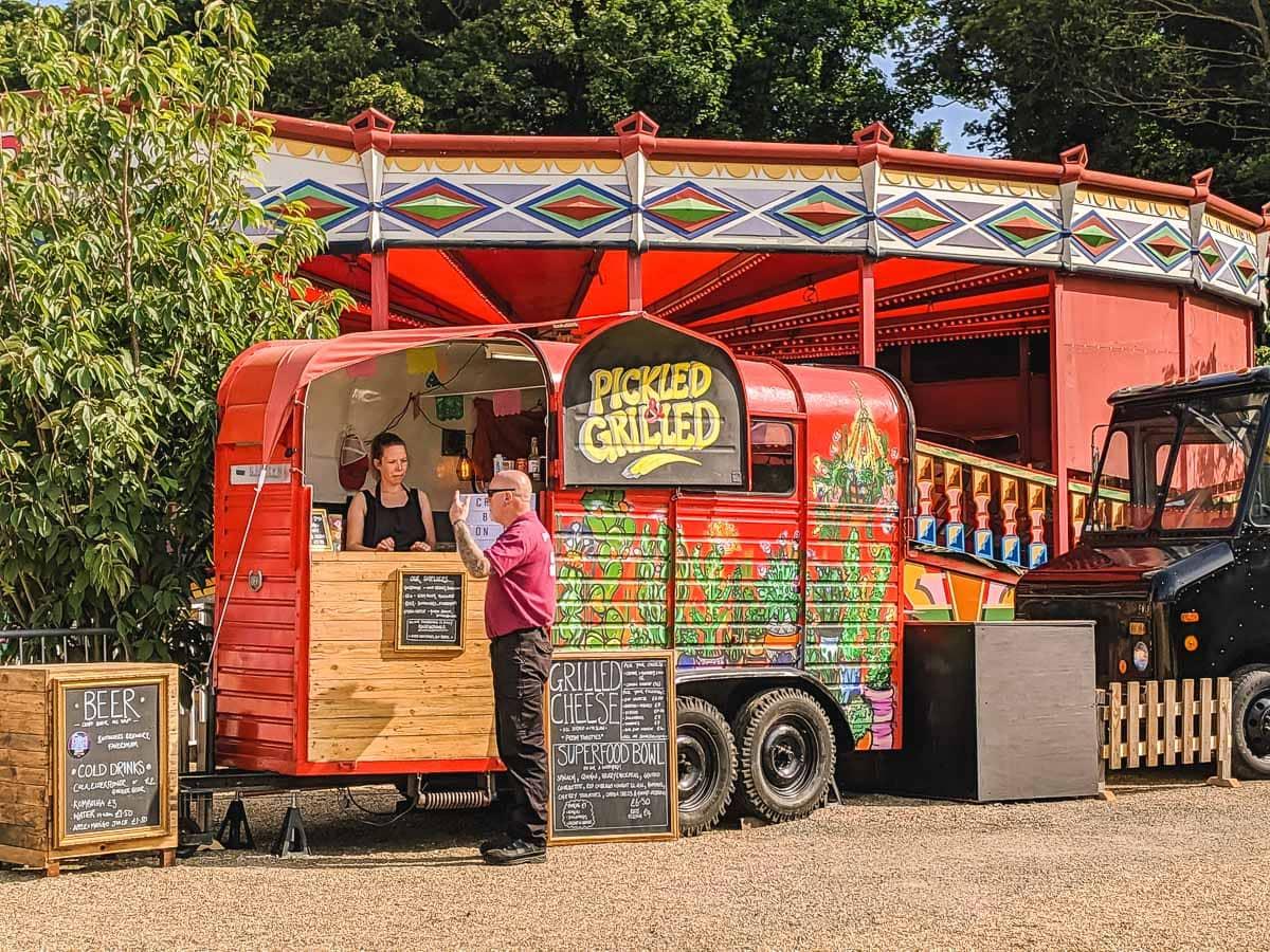 Street food trucks at Dreamland Margate