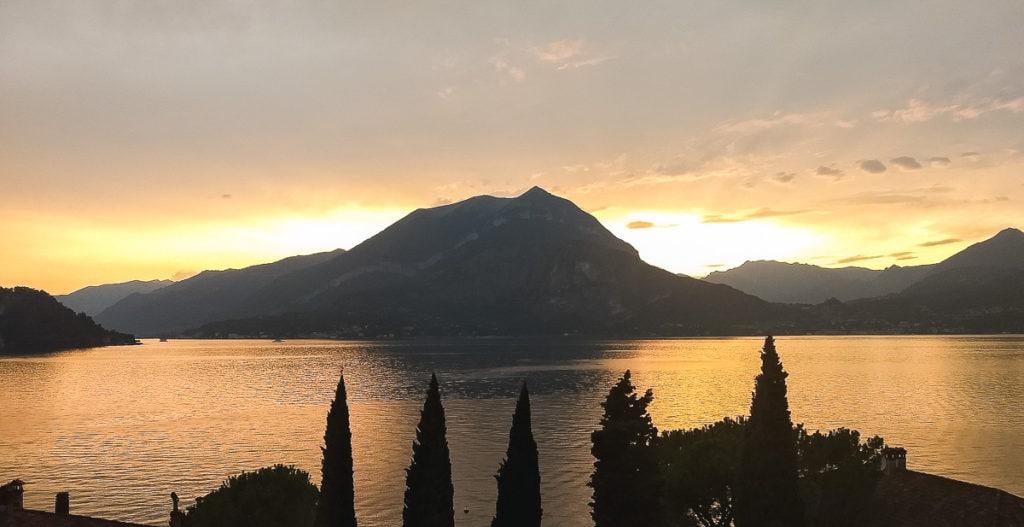 Sunset over Lake Como, Italy