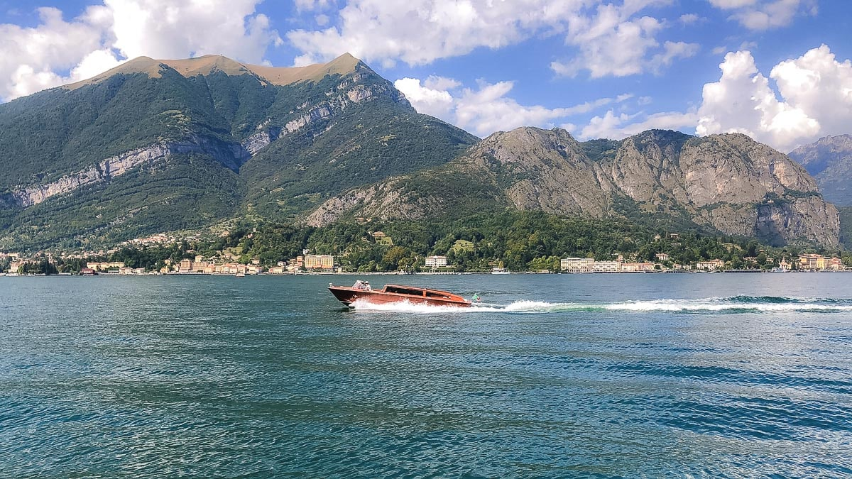Speed boat on Lake Como, Italy