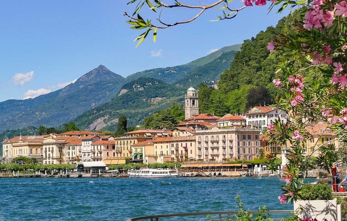Pretty towns on Lake Como, Italy