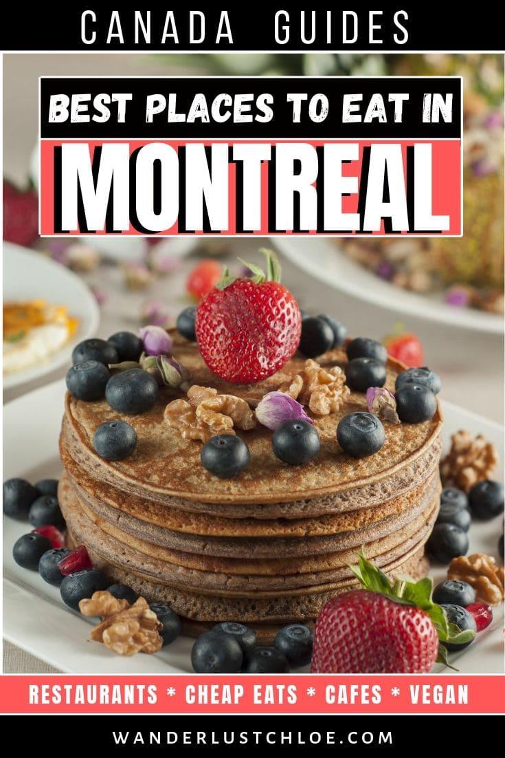 Les meilleurs endroits pour manger à Montréal