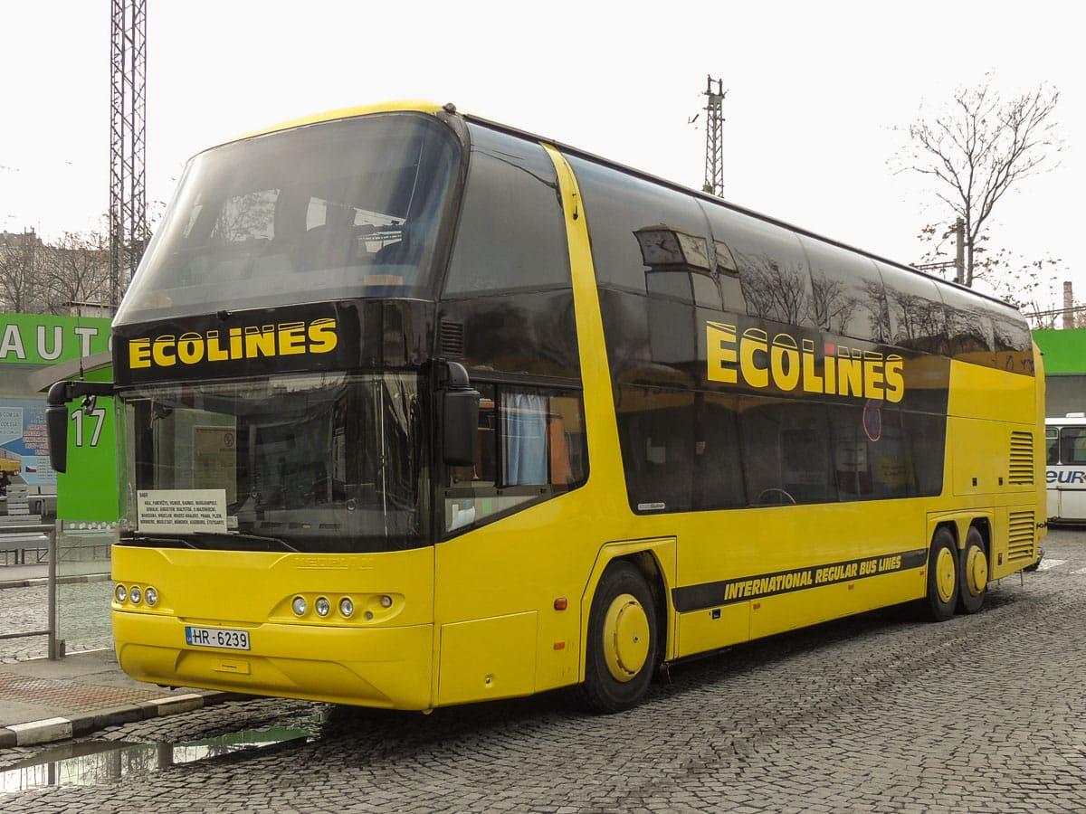 Ecolines coach from Tallinn to Riga