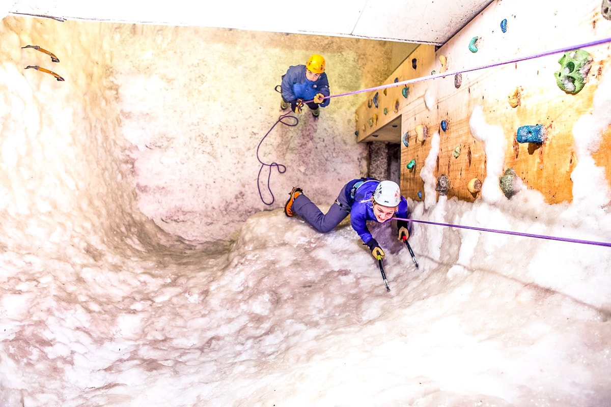 Ice climbing - one of the most unusual things to do in London