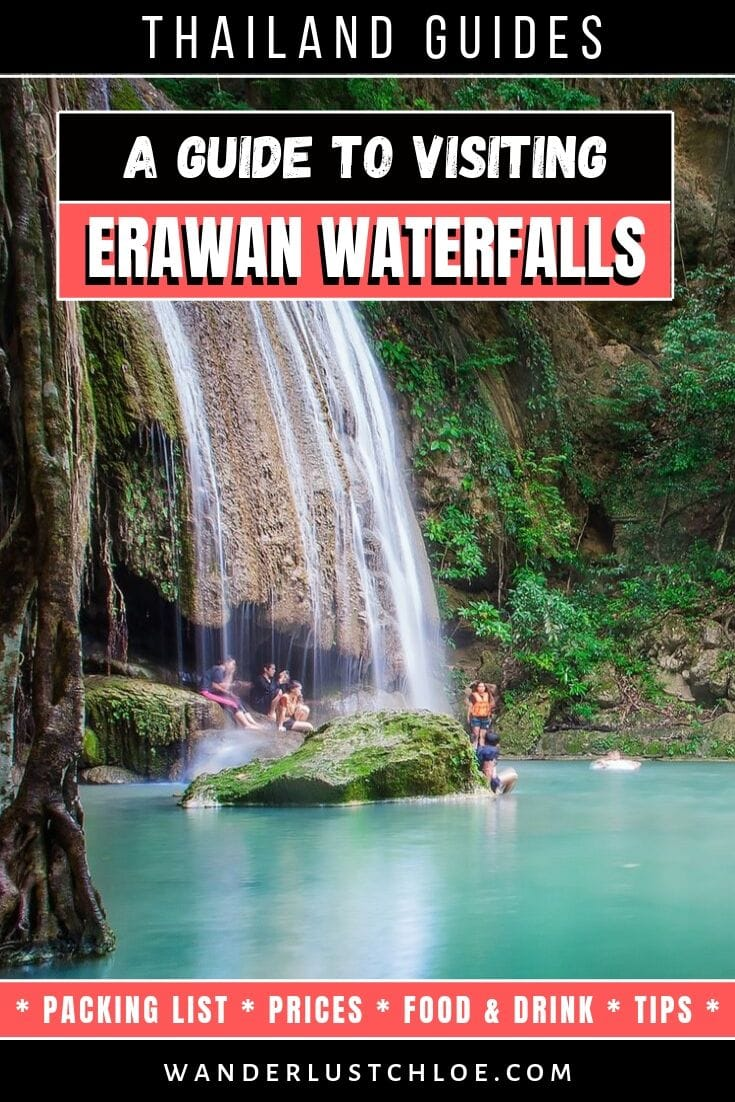 Visiting Erawan Waterfalls, Thailand