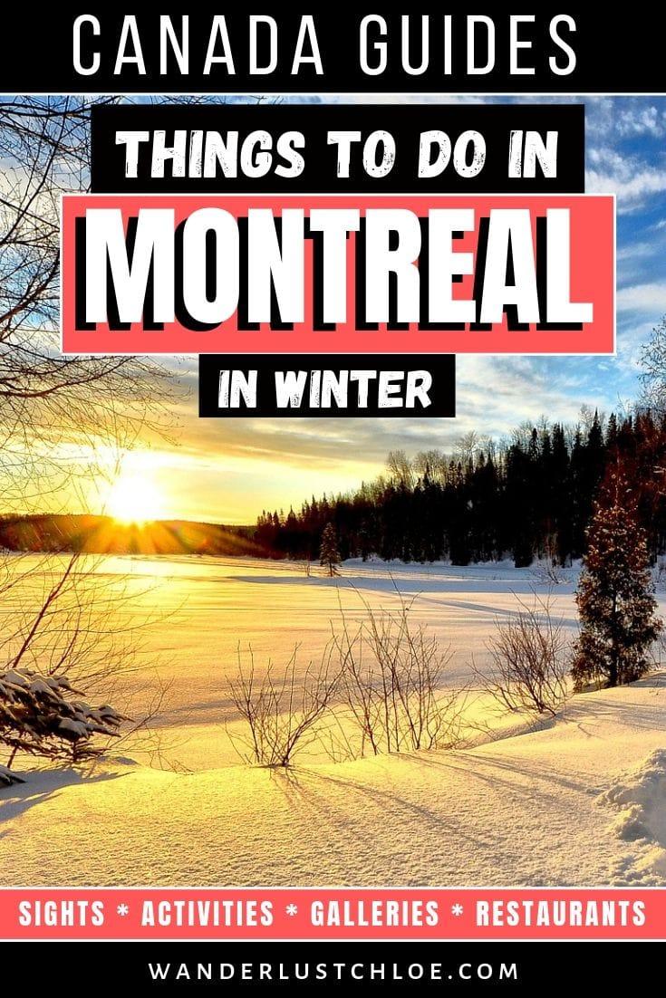 Que faire à Montréal en hiver?