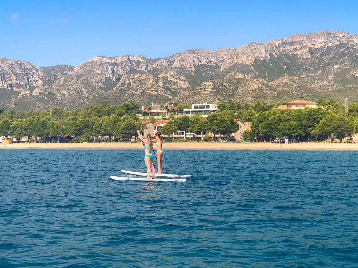 Paddle boarding in Catalonia
