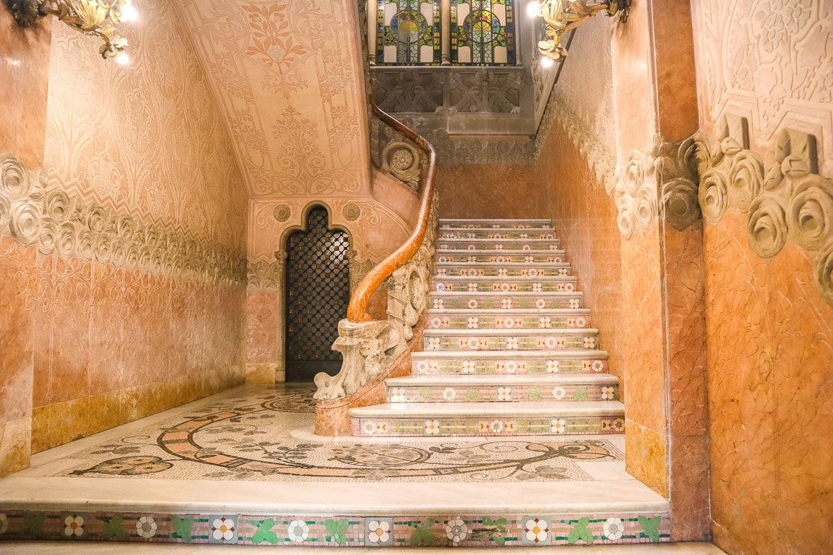 Staircase in Casa Navas, Reus